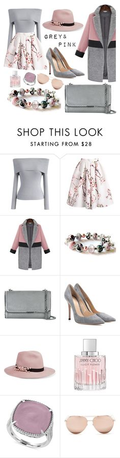 """Untitled #245"" by elles265 ❤ liked on Polyvore featuring Chicwish, STELLA McCARTNEY, Gianvito Rossi, Eugenia Kim, Jimmy Choo, Effy Jewelry and Linda Farrow"