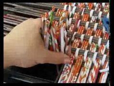 """Как плести прямоугольное дно Сайт о плетении из газет http://pletenie-iz-gazet.net Канал """"Плетение из газет"""" http://www.youtube.com/shishkina12 Сhannel """"WEAV..."""