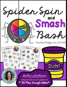 Interactive Articulation: Spider Spin and Smash Bash for Speech Therapy - Fine Motor