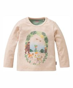 Oilily Beige Melee Tip Tee - Infant, Toddler & Girls | zulily