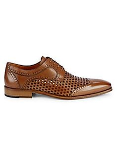 Mezlan Perforated Leather Brogues In Cognac Men's Shoes, Dress Shoes, Leather Brogues, Best Sneakers, Derby, Casual Shoes, Oxford Shoes, Lace Up, Project 4