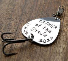 Father of the Bride Fishing Lure  Father Gift by sierrametaldesign