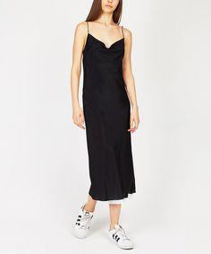 SAY ANYTHING SLIP DRESS BLACK