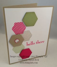 StampinTX: Hexagon Punch & Six Sided Sampler