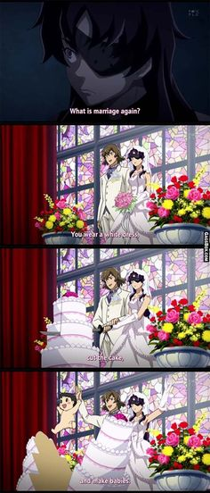 What Is Marriage (Mirai Nikki) - #funny, #anime, #humor, #jokes, #pictures #pics,