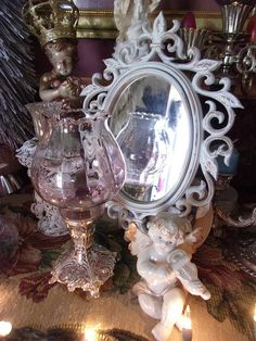 Excited to share the latest addition to my #etsy shop: Shabby Chic White Accent Wall Mirror * Victorian Oval Framed Mirror * French Cottage Chic Decor * Rococo style Petite Mirror https://etsy.me/2HesyQA #housewares #homedecor #white #gold #bedroom #3vintagehearts #fre