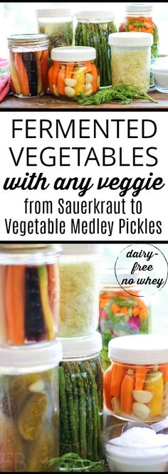 Learn to make fermented vegetables with any veggie, from homemade sauerkraut to probiotic pickled veggies. A super easy recipe (and tips) will have you fermenting quickly and preserving probiotic goodies without fuss. Paleo Recipes, Whole Food Recipes, Easy Recipes, Homemade Sauerkraut, Fermented Sauerkraut, Fermentation Recipes, Fermented Foods, Dessert, Desserts