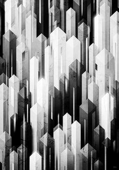 obelisk posture 3 (monochrome series) Art Print by Kingu Omega | Society6