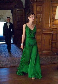 Famous Atonement emerald dress by  Jaqueline Durran