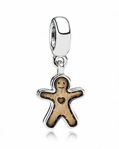 I don't own any Pandora jewelry, but now I will ♥ PANDORA Dangle Charm - Golden Enamel Gingerbread Man | Bloomingdale's