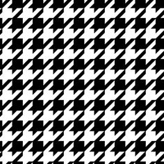 Houndstooth - is a duotone textile pattern characterized by broken checks or abstract four-pointed shapes, often in black and white, although other colours are used. The classic houndstooth pattern is an example of a tessellation.