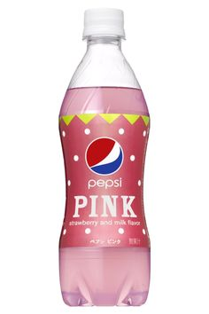 Pink Pepsi Launches In Japan Posted 10/05/2011 by Ron Hogan-Pepsi Japan's  Pink is actually a carbonated strawberry milk flavored take on Pepsi.
