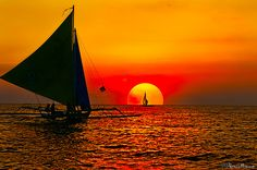 "landscapelifescape: "" Boracay, Philippines (by MalNino) "" Amazing Sunsets, Beautiful Sunset, Beautiful World, Night Time Photography, Nature Photography, Philippine Holidays, Boracay Philippines, The Great Outdoors, Perfect World"