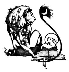 The Lion and the Lamb. #lion #tatto #illustration