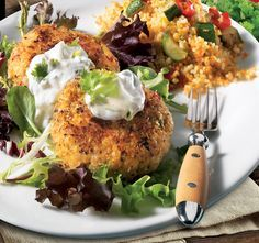 Basa Fish Cakes with Yogurt Sauce #TableTalk #FreshInspiration