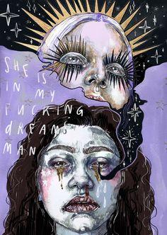 Kunst Inspo, Art Inspo, Pretty Art, Cute Art, Arte Indie, Arte Obscura, Arte Sketchbook, Funky Art, Art Hoe