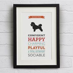 Bichon Frise Dog Breed Traits Print  Great gift by WellBredDesign, £12.95