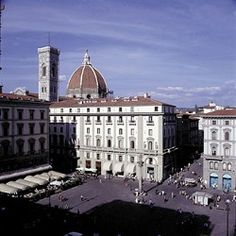 Florence at the Savoy Hotel, the Duomo is visible in the background