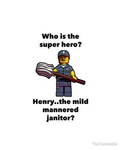 Henry..the mild mannered janitor by #fftw