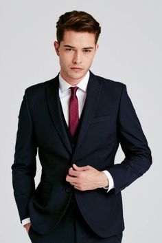 Buy Navy Suit: Jacket from the Next UK online shop Portrait Photography Men, Photography Poses For Men, Francisco Lachowski, Suit Fashion, Mens Fashion, Boy Poses, Fitted Suit, Mo S, Attractive Men
