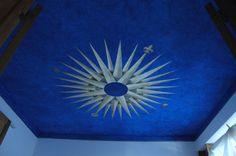 decorazione soffitto.foglia d'oro e acrilico. Created by Elvira Chiodino