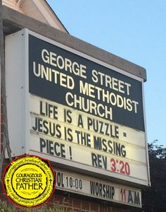 Life is a puzzle - Jesus is the missing piece! Revelation 3:20