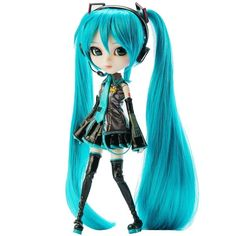"""Pullip Dolls Vocaloid Miku 12"""" Fashion Doll ($40) ❤ liked on Polyvore featuring random and toy"""