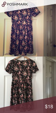 Forever 21 Floral Flower Multicolor Dress Size S Gently Preloved Forever 21 Dresses