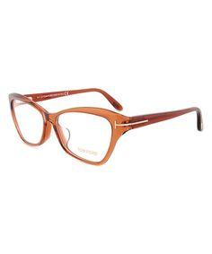 d14f8bbb75 Brownish Orange Angular Eyeglasses Prescription Lenses