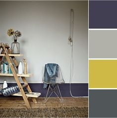 kleuren Interior colours/for our living room Paint Color Chart, Paint Colors, Colour Chart, Paint Schemes, Colour Schemes, Colour Palettes, Shades Of Grey Paint, Hallway Colours, Fired Earth