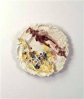Nature morte poisson by Lucio Fontana