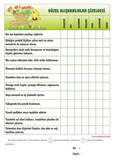 "güzel davranış çizelgesi [ ""g& davran& &"" ] # # # Islam For Kids, Behaviour Chart, Montessori Toddler, Kids Education, Character Education, School Teacher, Classroom Management, Ramadan, Kids And Parenting"