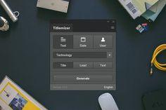Titlemizer Photoshop Plugin by DominikLevitsky