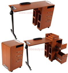 Portable folding manicure nail art table desk station for Folding nail technician table