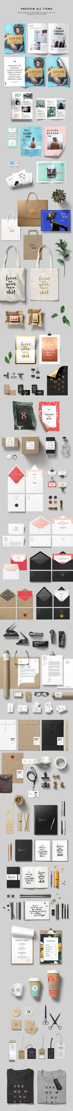 Brandminute Mockups:  Create stunning branding showcases & hero scenes in minutes! All design layouts used for showcase purposes are fully editable. You can change the text, colors, patterns, etc.