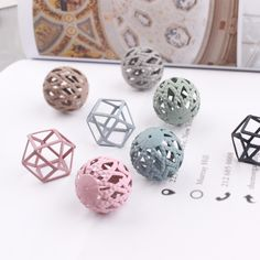 New Design Spray Paint Hollow round geometric perforated beads Metal Charms Diy Jewerly Necklace/Earring Pendants Accessory. Yesterday's price: US $19.99 (16.29 EUR). Today's price: US $17.59 (14.42 EUR). Discount: 12%.