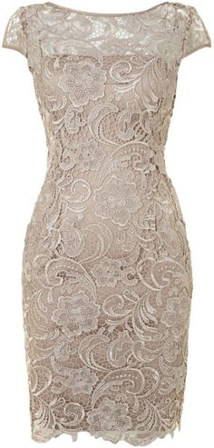 Adrianna Papell Cap Sleeve Lace Dress www.finditforweddings.com evening wear Bridesmaid or dress Mother of the Bride