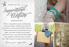Homecoming Trunk Shows - Inspirational Artifacts collection