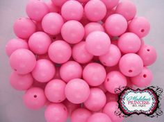 20mm Pretty Pink Acrylic Solid Chunky by MadelinesOnlineStore, $1.75