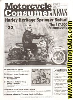1997 June Motorcycle Consumer News Magazine Back-Issue