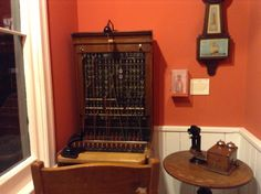 Old telephone operator station at Goderich museum