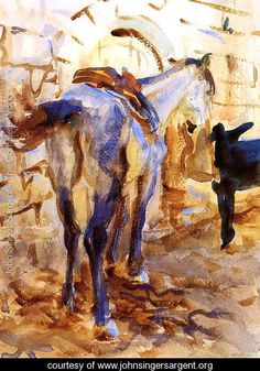 Saddle Horse, Palestine - Reproduction - www.johnsingersargent.org - Large