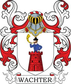 Wachter familiewapen - Wachter Coat of Arms Meanings and Family Crest Artwork - wapenschild - heraldiek