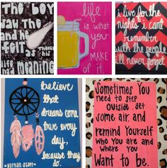 Favorite quote canvas from one tree hill gossip girl ... https://www.etsy.com/shop/kaylacarter23
