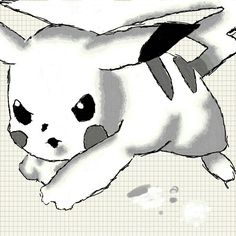 Pokemon  pikachu  bored drawing on my phone
