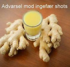 """Advarsel mod """"ingefær shots"""" med og uden gurkemeje"""