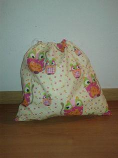Bolsa grande de tela 100% algodón Grande, Backpacks, Diy, Decor, Bag, Decoration, Bricolage, Backpack, Do It Yourself