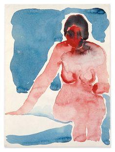 Georgia O'Keefe / Seated Nude XI (1917)