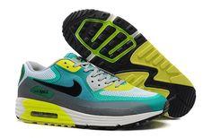 FI831: Nike Air Max Lunar90 C3.0 - Heren Sportschoenen - Grijs/Geel/Turquoise Online