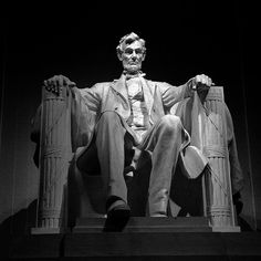Lincoln Memorial - Washington DC    Gave me chills seen at night - Abe looks very troubled and alone.
